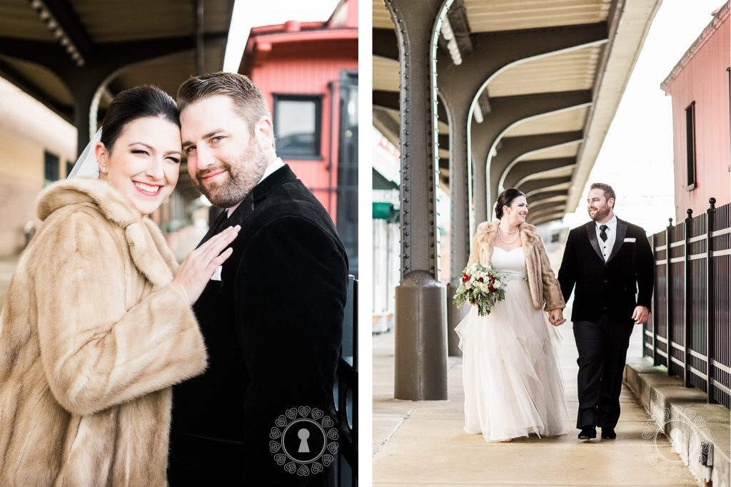 Station-Square-Bridal-Party-Winter-Wedding