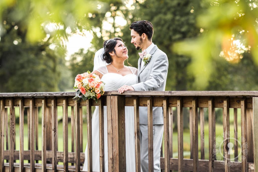 Golf-Course-Bridge-Bride-Groom-Portrait